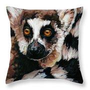 Ghost Of Madagascar Throw Pillow