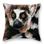 Ghost Of Madagascar Throw Pillow