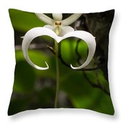 Ghost Orchid 2 Throw Pillow