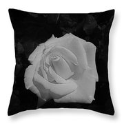 Ghost Rose Throw Pillow