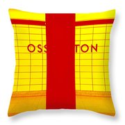 Ghost Station In Red And Yellow Throw Pillow