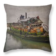 Ghost Steamer Throw Pillow