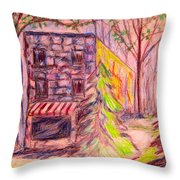Ghost Store Throw Pillow