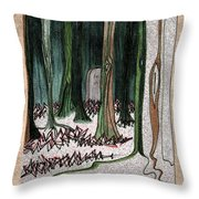 Ghost Stories Forest Graveyard By Jrr Throw Pillow