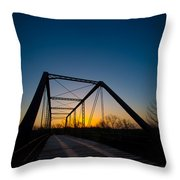 Ghost Town Bridge Throw Pillow