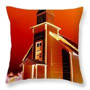 Ghost Town Church Throw Pillow