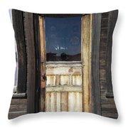 Ghost Town Handcrafted Door Throw Pillow