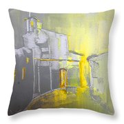 Ghost Town In Spain Throw Pillow