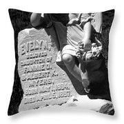 Ghost Town Little Angle Throw Pillow