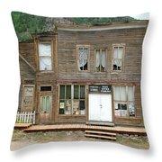 Ghost Town Of Saint Elmo Throw Pillow