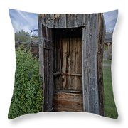 Ghost Town Outhouse - Montana Throw Pillow