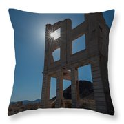 Ghost Town - Rhyolite Throw Pillow
