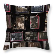 Ghost Towns Collage 1967-2012 Throw Pillow