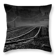 Ghost Tracks Throw Pillow