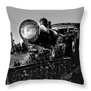 Ghost Train In Paranapiacaba - Locobreque Throw Pillow