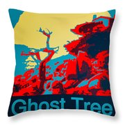Ghost Tree Poster Throw Pillow