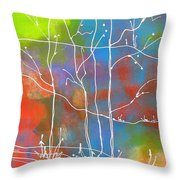 Ghost Trees Throw Pillow