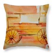 Ghost Wagon Throw Pillow