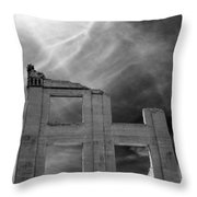 Ghost Wall. Throw Pillow