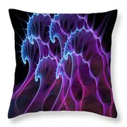 Ghost Waves Throw Pillow