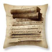 Ghost Writer Throw Pillow