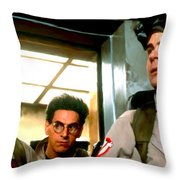 Ghostbusters Throw Pillow by Paul Tagliamonte