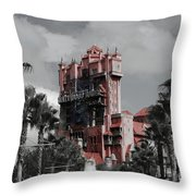 Ghostly At The Tower Throw Pillow