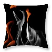 Ghostly Flames Throw Pillow