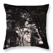 Ghostly Fortress Throw Pillow