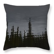 Ghostly Green Canoe Throw Pillow