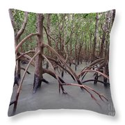 Ghostly Mangroves Throw Pillow