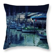 Ghostly Marina Throw Pillow