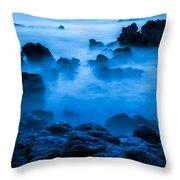 Ghostly Ocean 1 Throw Pillow