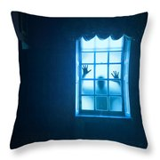 Ghostly Person At A Window Throw Pillow