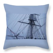 Ghostly Rigging In Snow Throw Pillow