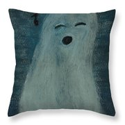 Ghostly Serenade Throw Pillow