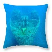 Ghostly Ship Wreck Throw Pillow