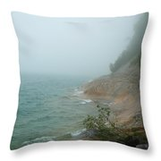 Ghostly Shore Throw Pillow