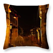 Ghostly Street Throw Pillow