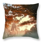 Ghosts At Fort Donelson Throw Pillow