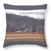 Ghosts Of Fallen Leaves Throw Pillow