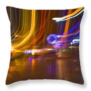 Ghosts Of The Lights Throw Pillow