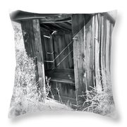 Ghosts Of The Outhouse Rocky Mountains Throw Pillow