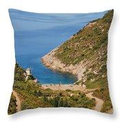 Gialia Beach Alonissos Throw Pillow
