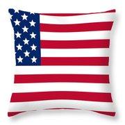 Giant American Flag Throw Pillow