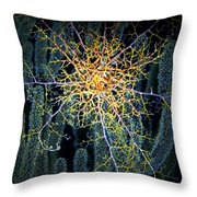 Giant Basket Star At Night Throw Pillow