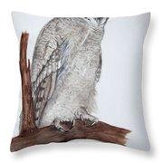 Giant Eagle Owl Throw Pillow