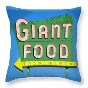 Giant Food Throw Pillow