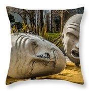 Giant Heads Throw Pillow