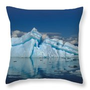 Giant Ice Floes Throw Pillow